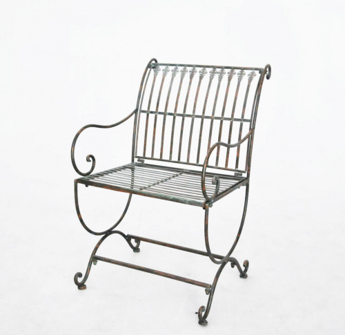 Fauteuil en fer forg vert de gris demeure et jardin - Fauteuil en fer forge ...