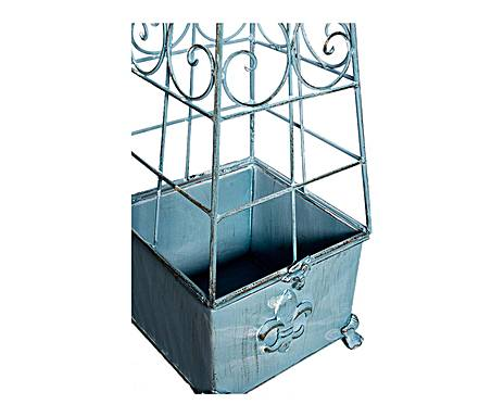 ob lisque porte plante fleur de lys en fer forg demeure et jardin. Black Bedroom Furniture Sets. Home Design Ideas