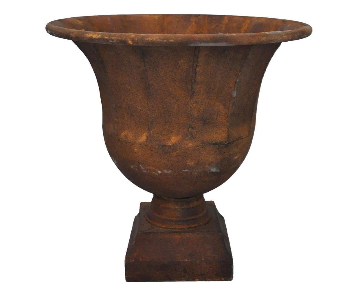 Vasque en t le patine effet rouill demeure et jardin - Enlever rouille sur fonte ...