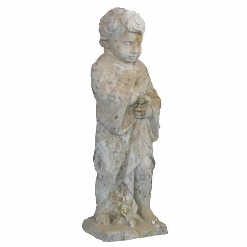 Angelot petit modèle 4 saisons hiver en pierre reconstituée - Hauteur 70 cm