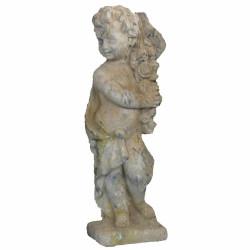 Angelot petit modèle 4 saisons printemps en pierre reconstituée - Hauteur 70 cm