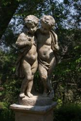 Jumeaux en pierre reconstituée - Hauteur 110 cm