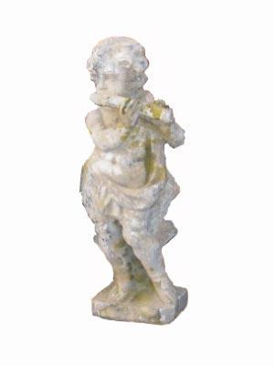Angelot petit modèle joueur de flûte en pierre reconstituée - Hauteur 70 cm