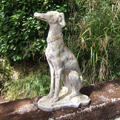 Chien lévrier en pierre reconstituée - Hauteur 80 cm