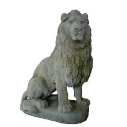 Lion en pierre reconstituée - Hauteur 135 cm