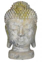 Tête de boudha grand modèle en pierre reconstituée - Hauteur 58 cm