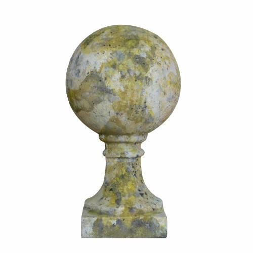 Boule de pilier en pierre reconstituée - Hauteur 64 cm