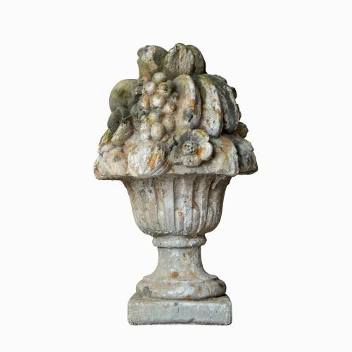 Bouquet iris en pierre reconstituée - Hauteur 48 cm