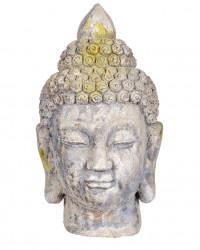 Tête de boudha petit modèle en pierre reconstituée - Hauteur 38 cm
