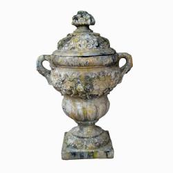 Pot à feu en pierre reconstituée - Hauteur 105 cm