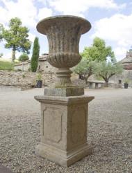 Vase medicis petit modèle en pierre reconstituée - Hauteur 75 cm