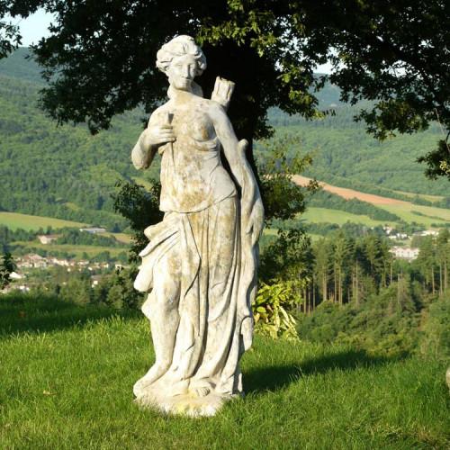 Statue Diane en pierre reconstituée - Hauteur 140 cm