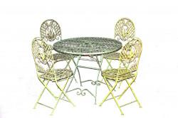 Table et Chaises de jardin en fer forgé Collection Chene