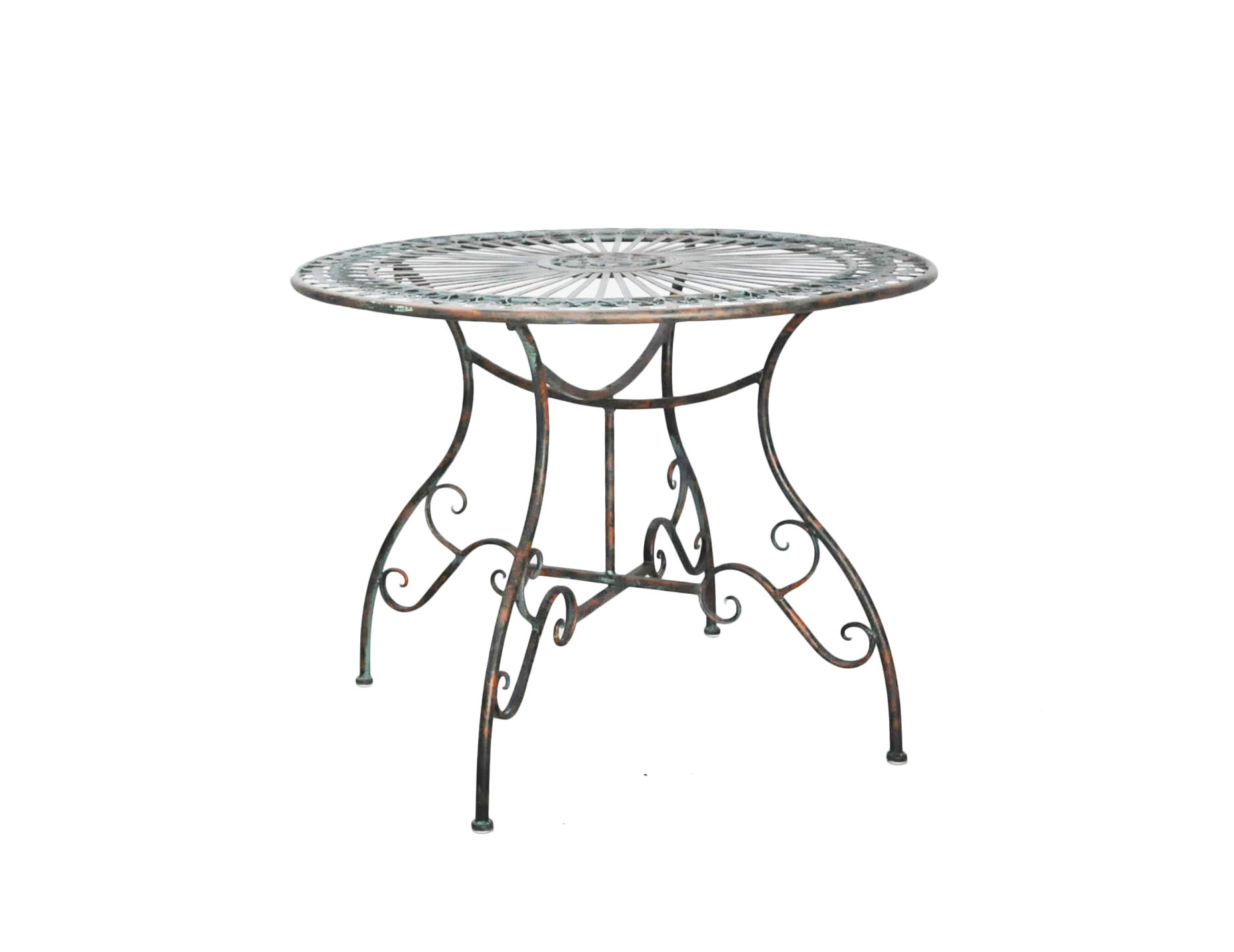 Best table de jardin metal verte contemporary bikeparty for Table jardin metal gris