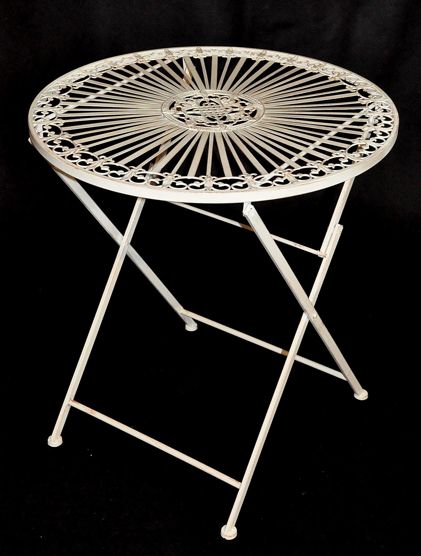 Chaise pliante de jardin en fer forgé