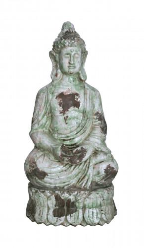 statue de bouddha en terre cuite d 39 ext rieur demeure et jardin. Black Bedroom Furniture Sets. Home Design Ideas