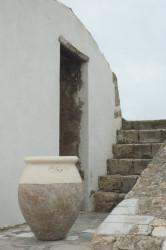 Jarre de forme olive patine classique - Hauteur 110 cm