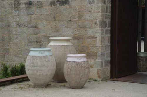 Jarre de forme olive patine prestige - Hauteur 110 cm