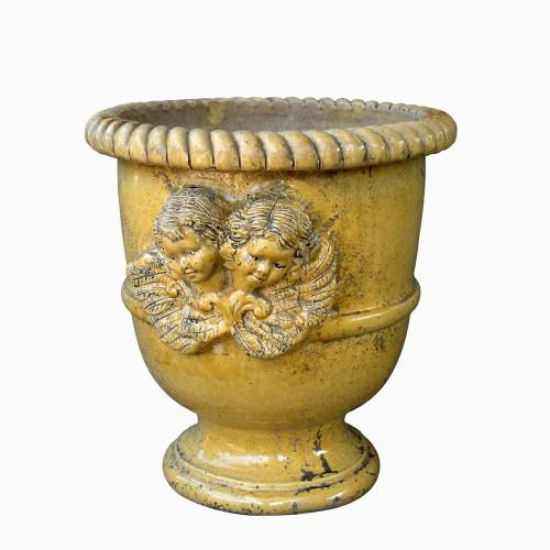Vase provençal modèle Anges finition émaillée intégrale - Hauteur 60cm