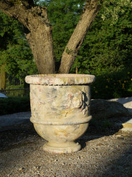 Vase provençal modèle Bacchus finition émaillée intégrale - Hauteur 60cm