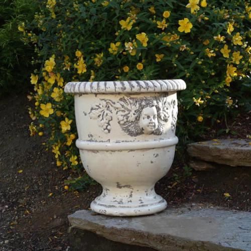 Vase provençal modèle Bacchus finition émaillée intégrale - Hauteur 80cm