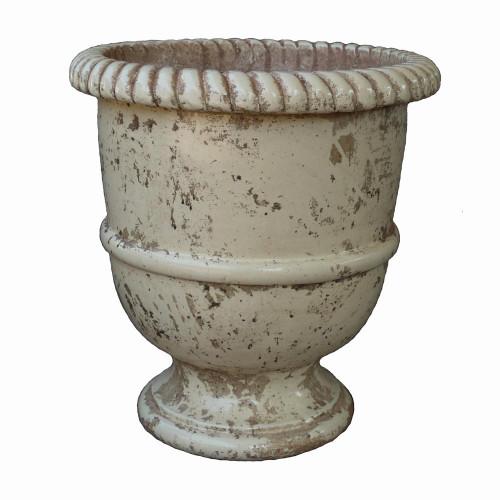 Vase provençal modèle Lisse finition émaillée intégrale - Hauteur 80cm