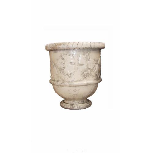 Vase provençal modèle Vigne finition émaillée intégrale - Hauteur 80cm