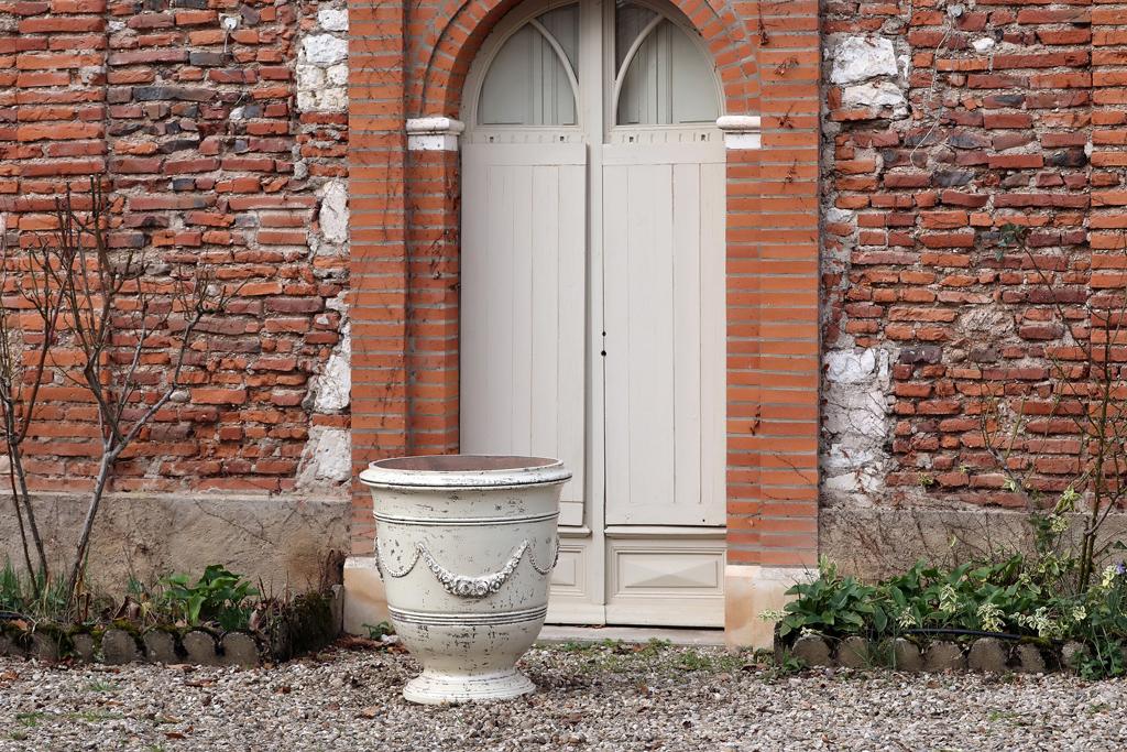 Vase Roi Soleil avec guirlande - Hauteur 65cm - Demeure et Jardin