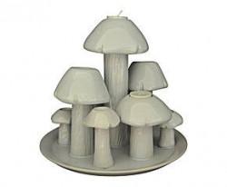 Bougeoir design laqué blanc champignon Céramique Blanche GM