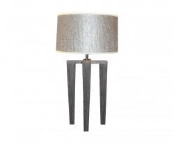 Lampe design scandinave quadripode en bois gris