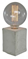 Lampe avec socle en ciment