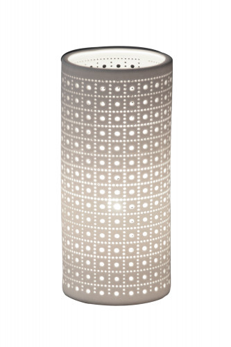 Lampe en cylindre de couleur blanc en céramique