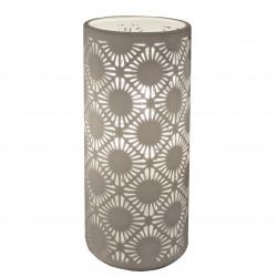 Lampe cylindrique en céramique blanc