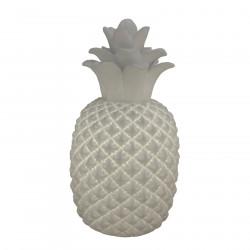 Lampe ananas en céramique blanc