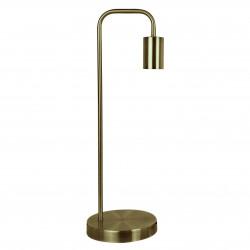 Lampe en métal satiné couleur laiton