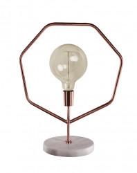 Lampe en métal couleur cuivre