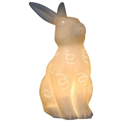 Lampe lapin en céramique