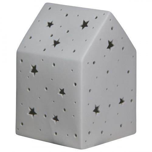 Lampe maison en céramique de couleur blanc
