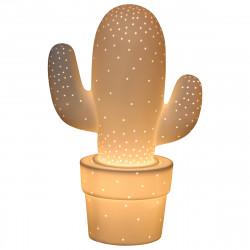 Lampe en forme de cactus céramique