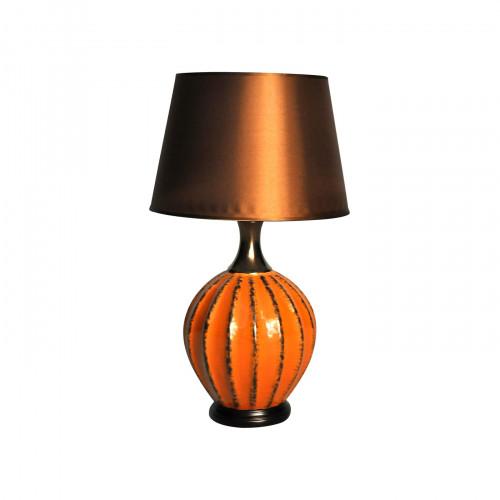 Lampe boule orange
