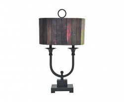 Lampe double style Tiffany Art Déco