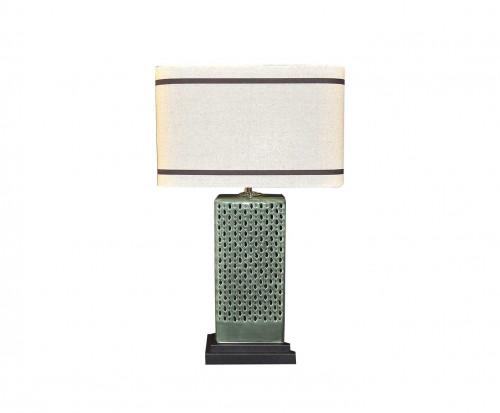 Lampe Céramique Verte