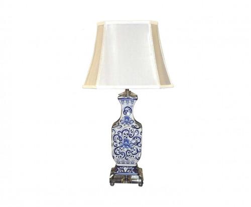 Lampe porcelaine bleue de style Chinoise