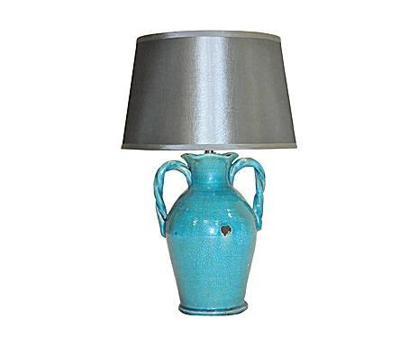 Lampe de sejour bleue turquoise