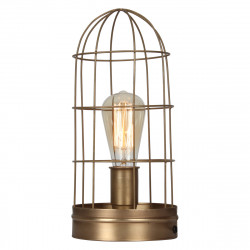 Lampe Grillagée Style Industrielle couleur bronze