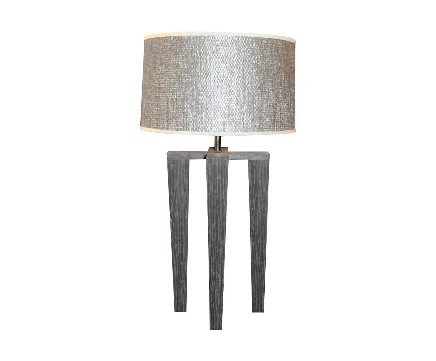 Lampe Design Scandinave Quadripode En Bois Gris Demeure Et Jardin