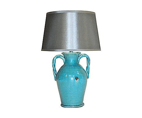 Lampe Urne Turquoise