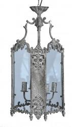 Lanterne tôle grise