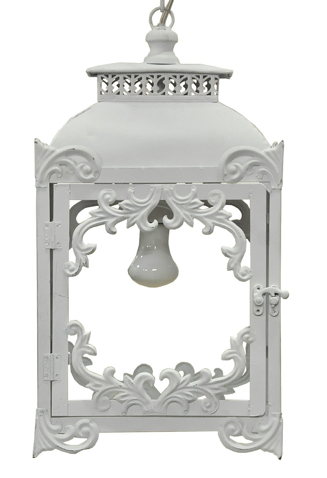 lanterne fer forg blanche demeure et jardin. Black Bedroom Furniture Sets. Home Design Ideas