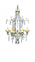 Lustre pagode pampilles en verre petit modele